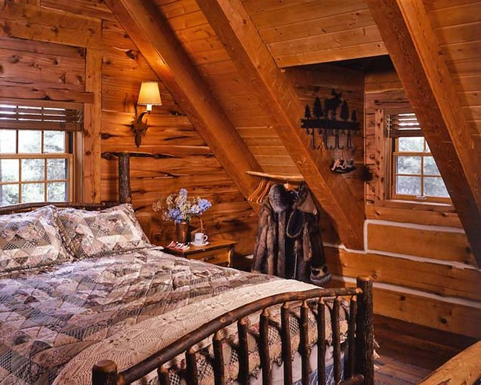 Cozy Log Cabin With Charming Interior  Cozy Homes Life