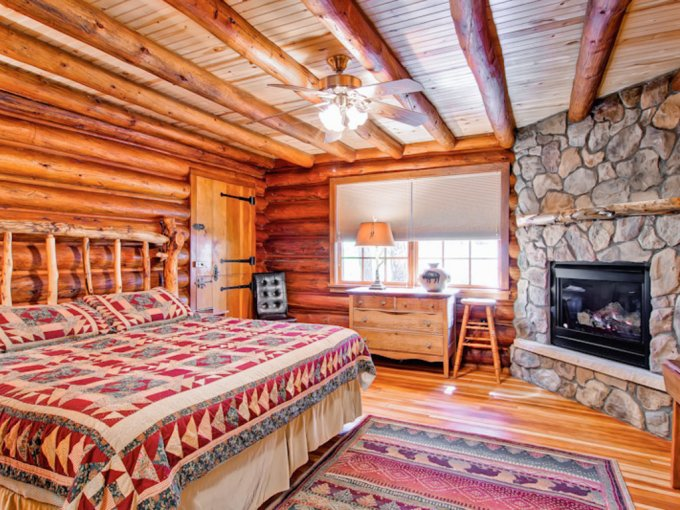 Natural Log Cabin In The Mountains  Cozy Homes Life