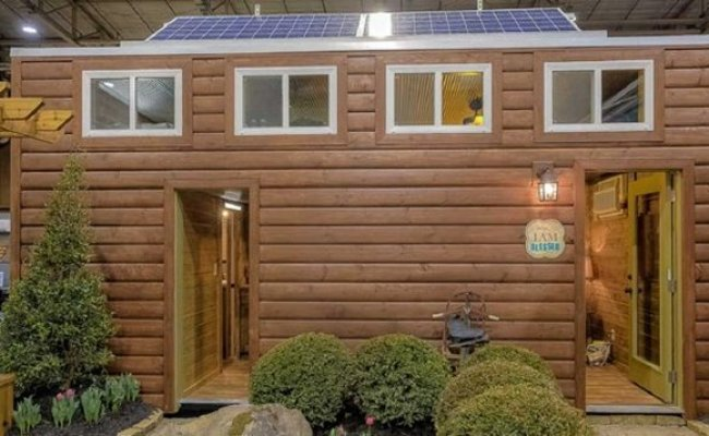 Tiny Log Home From A Shipping Container Cozy Homes Life