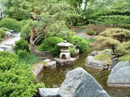 Landscape Design Plans Japanese Garden With Unique Bridge