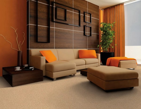 Orange and Brown Living Room Color Schemes
