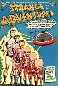 1950's alien comic book