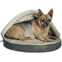 Thermo-Doggy Hut: Heated Small Dog Bed ...