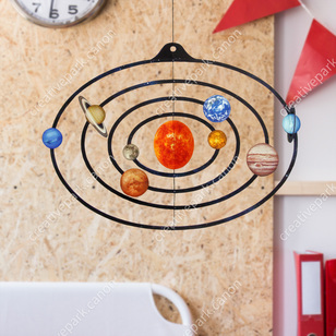 Mobile: Solar System,Science,Paper Craft,Educational,science,Mobile,sun,Planet,Space,Moving,toy