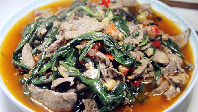 血皮菜炒豬肝怎么做_血皮菜炒豬肝的做法_一粒沙是我啊_豆果美食