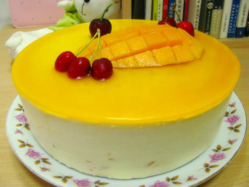 芒果慕斯蛋糕的做法_【圖解】芒果慕斯蛋糕怎么做如何做好吃_芒果慕斯蛋糕家常做法大全_Chris_蓉_豆果美食