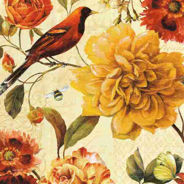 Vintage Garden Flowers Prints