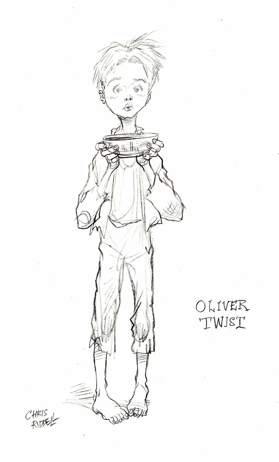 Oliver Twist Drawings Sketch Coloring Page