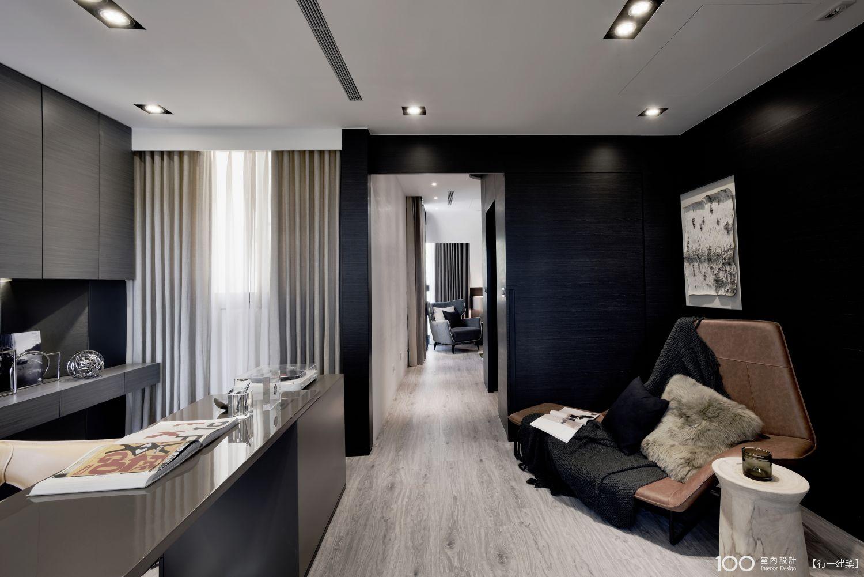120坪 現代風 5房 新成屋 裝修案例圖 - 光之器 - 行一建築 - 100室內設計