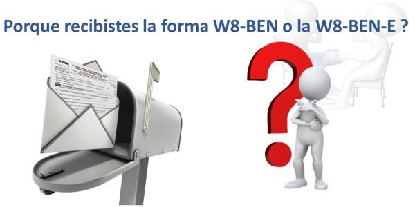 Forma W8-BEN o W8-BEN-E