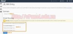 Hướng chuyển tiếp Email đến sever nào đó (Mail Exchanger) với MX Entry của cPanel