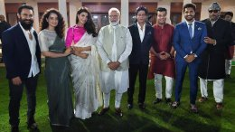 Modi with Bollywood Stars