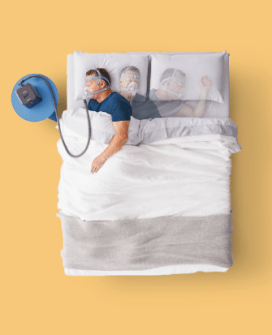 Man Sleeping with CPAP Machine - cpapRX