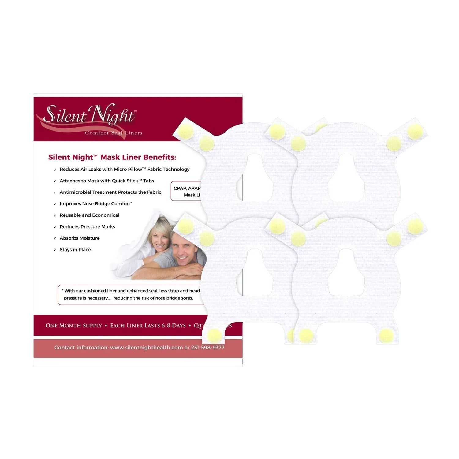 silent night liners for nasal cpap masks
