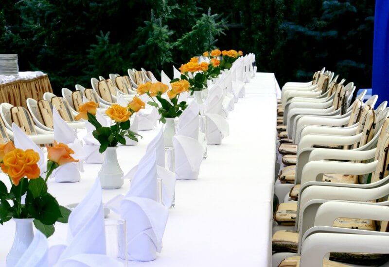 White linen and decor