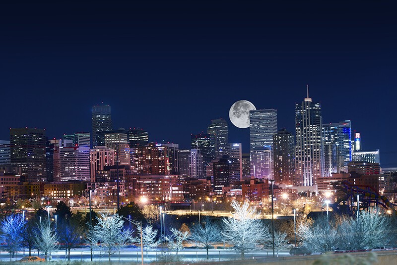 Denver during the holidays