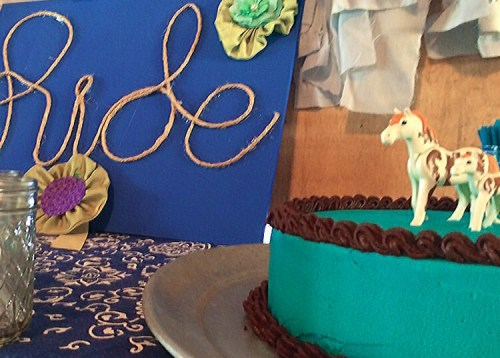Horse Themed party cake