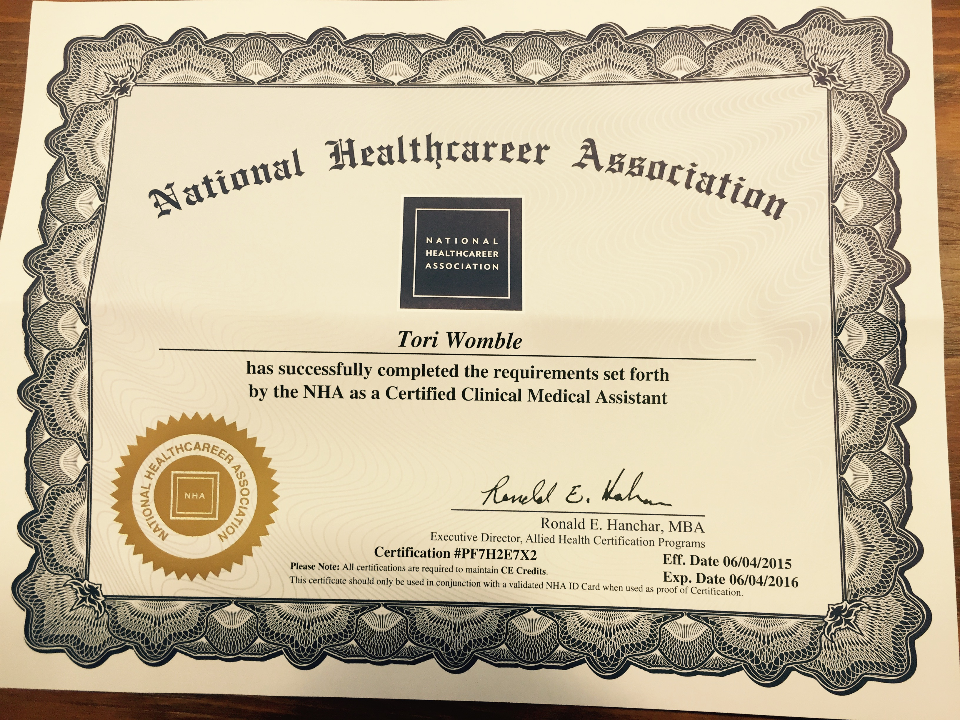 Nha Certified Clinical Medical Assistant Certification