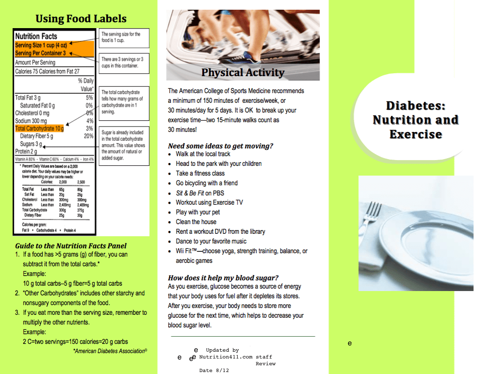 Diabetes Brochure Review