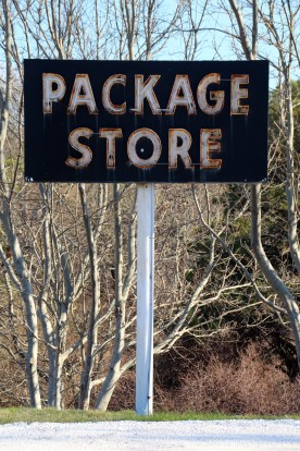 Package store sign, Cape Cod, MA.