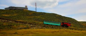 Cog railway train, Mt. Washington, NH