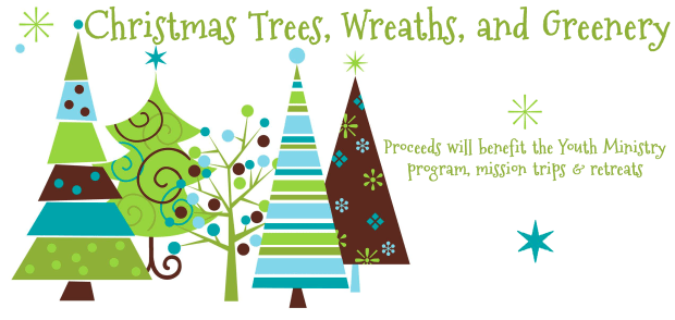 Christmas Trees Greenery banner