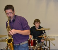 An amazing jazz trio from Whitby, Ont., offered their talents for the event.