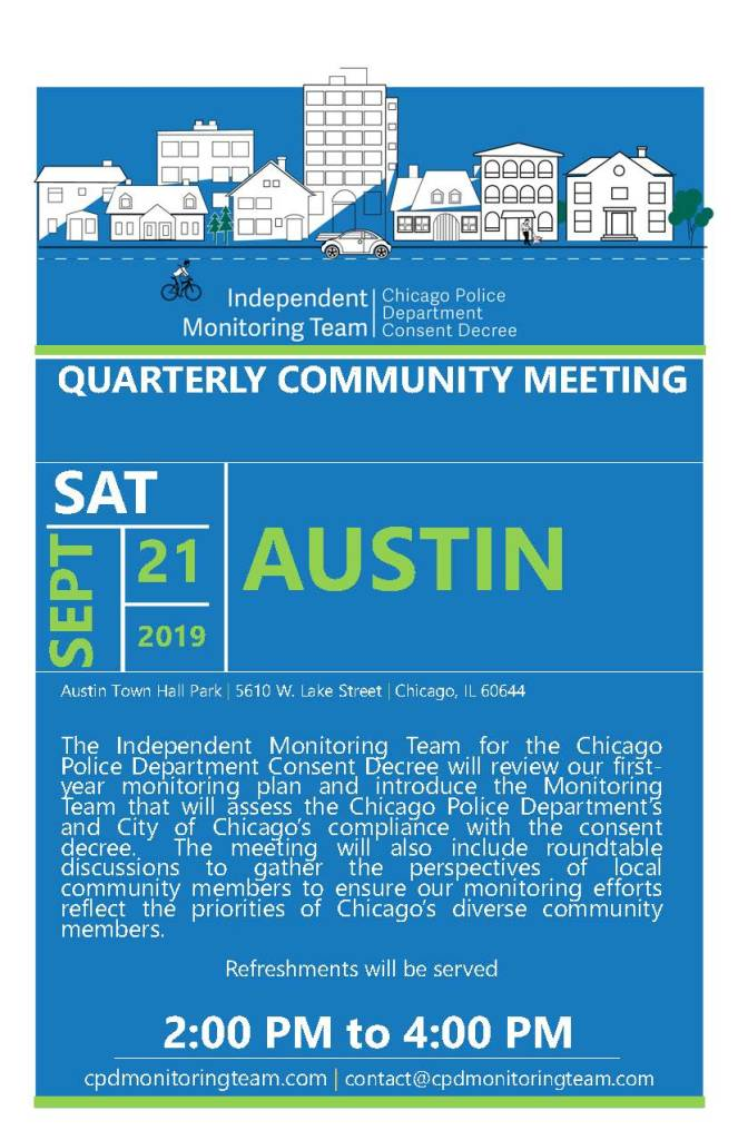 Flyer for the Chicago IMT Quarterly Meeting