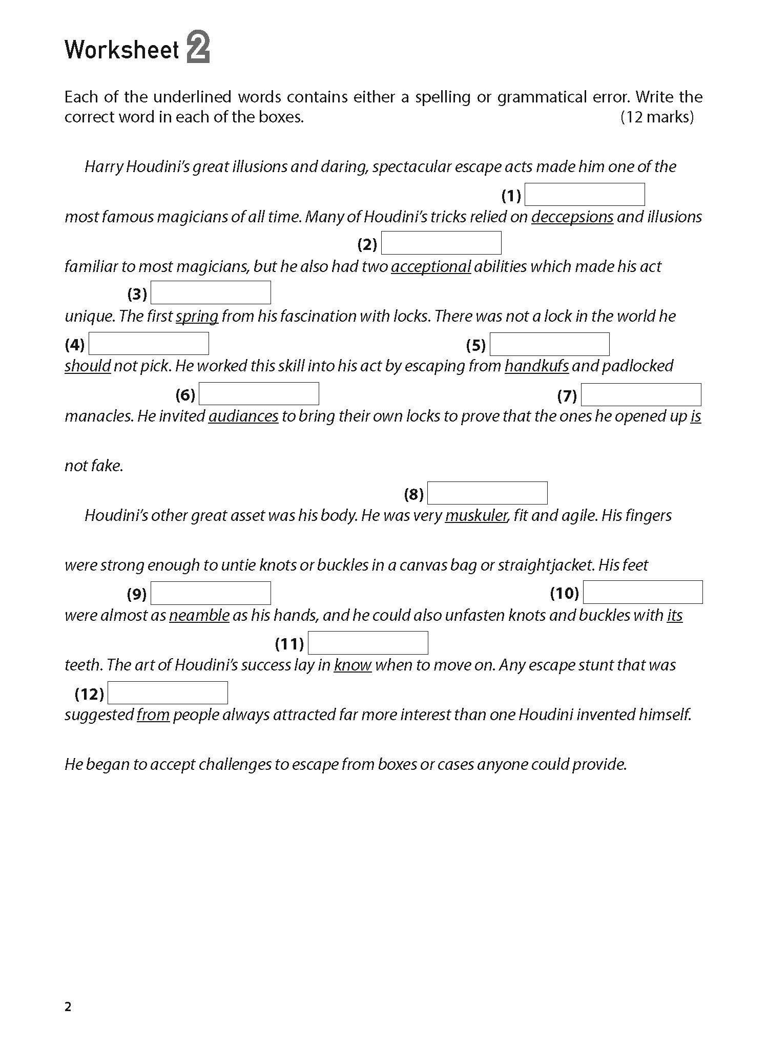 100 English Worksheets Primary 5 Amp 6 Editing