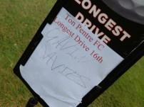 Longest drive went to Gavin Davies.