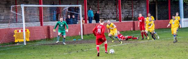Action from the recent home match against Monmouth Town.