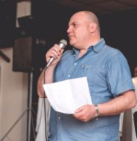 Bulldogs Chairman Ceri Jones explains about all of the hard work going on at Ton Pentre AFC.