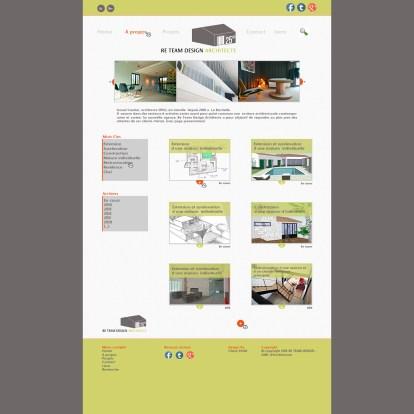 Création Webdesign, Page d'accueil, Photoshop, 2014