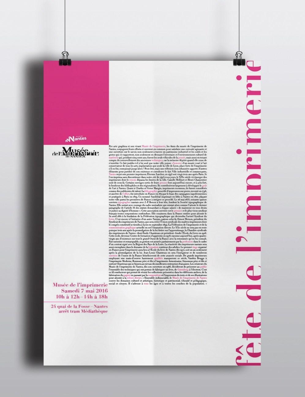 Affiche Claire PéhO Fête de l'imprimerie 2016