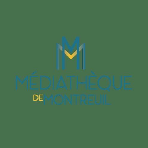 Logotype médiathèque de Montreuil par Claire PéhO