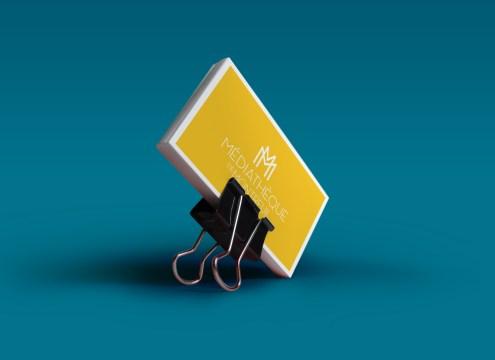 Business card Recto Médiathèque de Montreuil par Claire PéhO