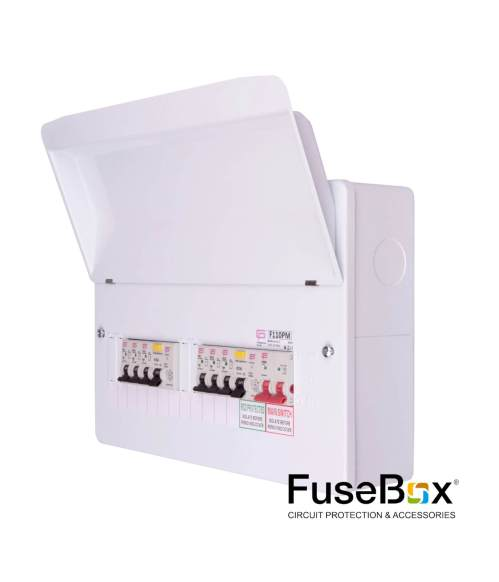 small resolution of populated dual rcd 10way 6xmcbs metal sku f110pm category fusebox consumer units