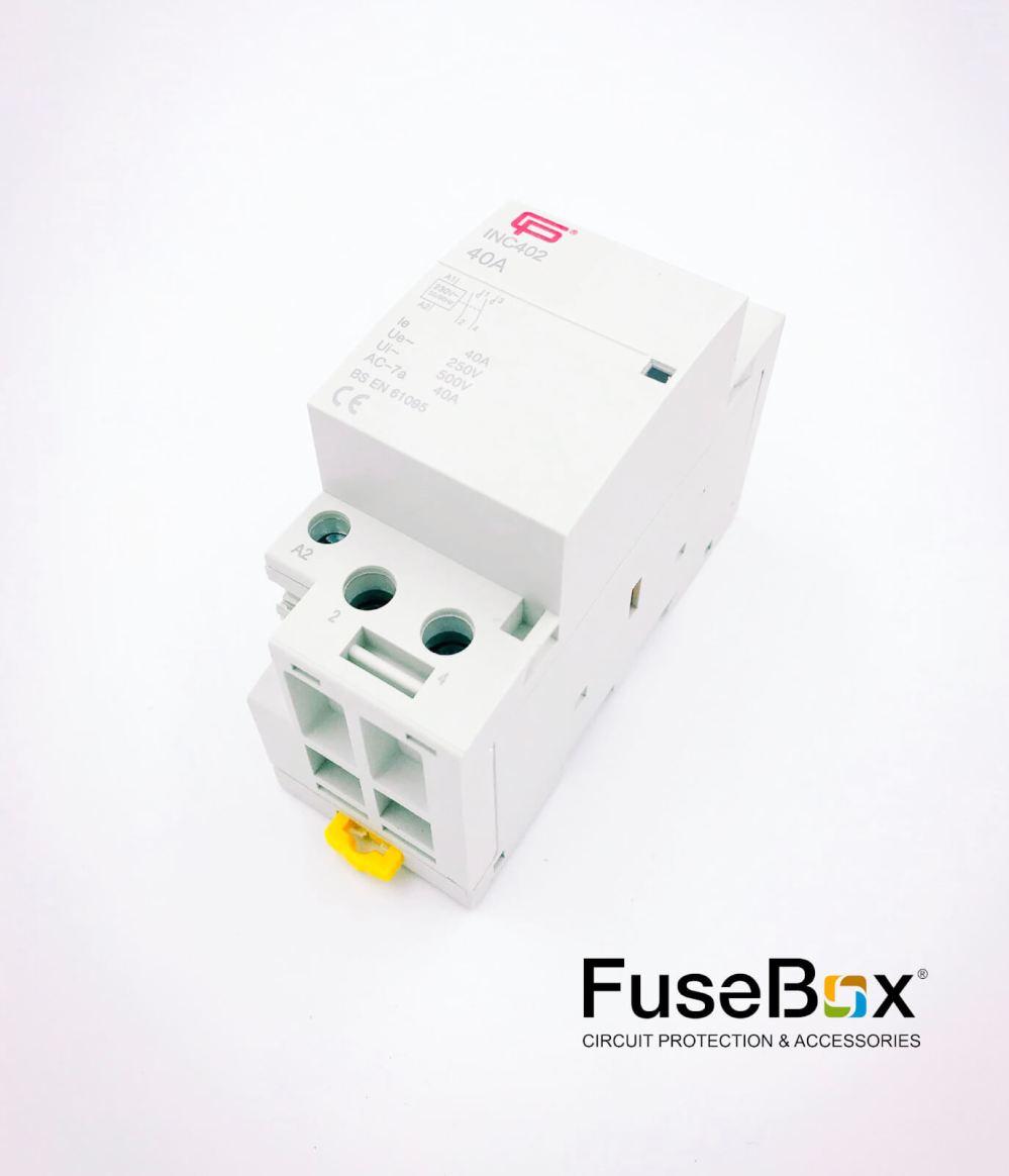 medium resolution of 40a 2 pole n o installation contactor