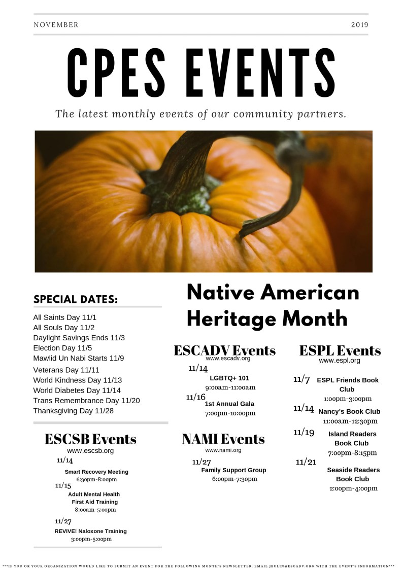 Nov 2019 Newsletter