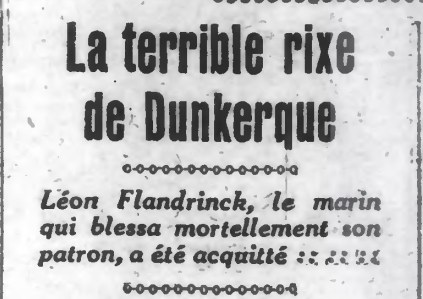 Acquittement de Léon Flandrinck