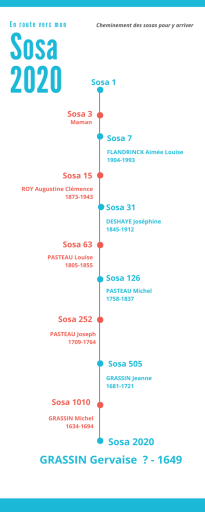 Cheminement d'accès au sosa 2020