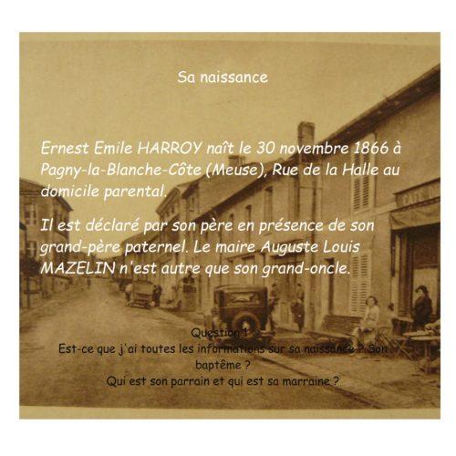 HARROY Ernest Emile Naissance