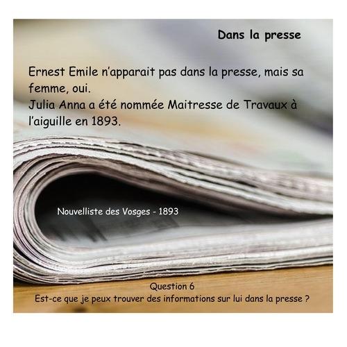 HARROY Ernest Emile Presse