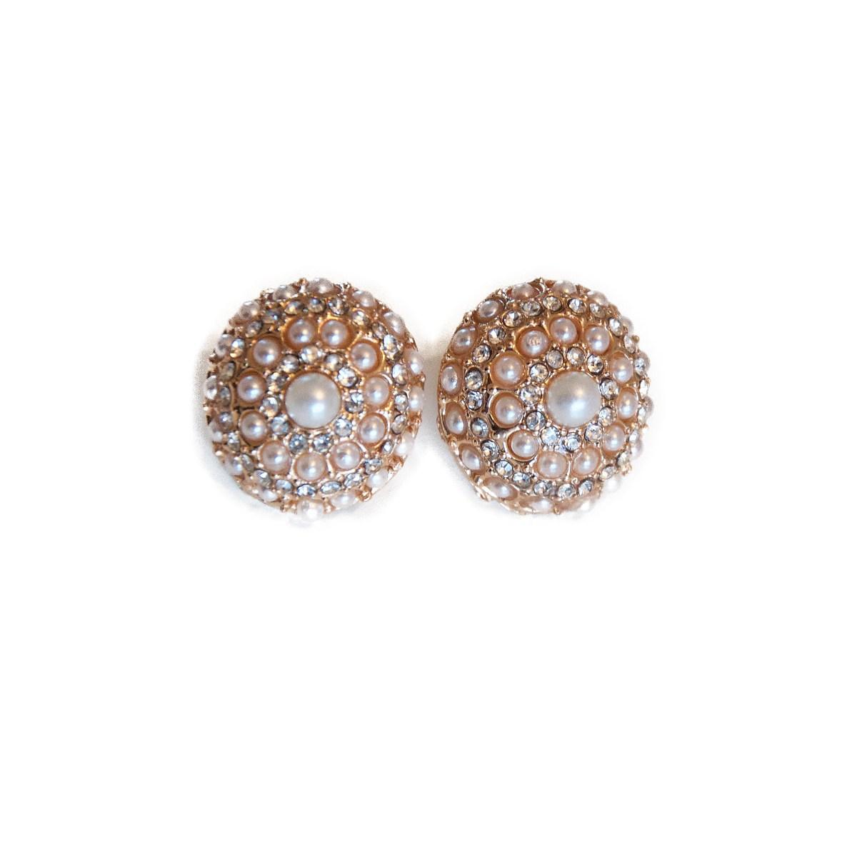 Madame Bijoux elegante perleøreringe