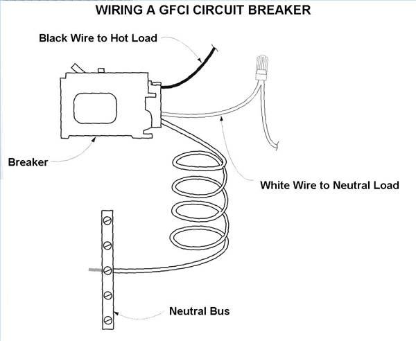 wiring gfci breaker