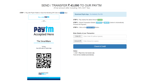 New Payment Options: Paytm (INR) - Now make Payment in INR Currency via Paytm