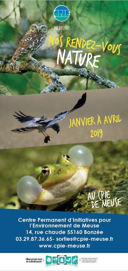 Initiatives Calendrier.Nouveau 2019 Calendrier Grand Public De Janvier A Avril
