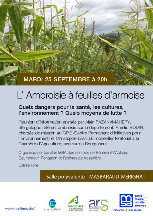 thumbnail of affiche ambroisie Masbaraud Mérignat-1