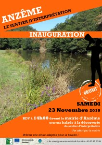 20191123 - Inauguration du sentier d'interprétation du Pré aux Îles @ Mairie d'Anzême | Anzême | Nouvelle-Aquitaine | France