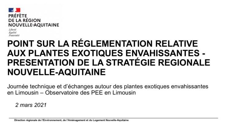 Stratégie Régionale et réglementation